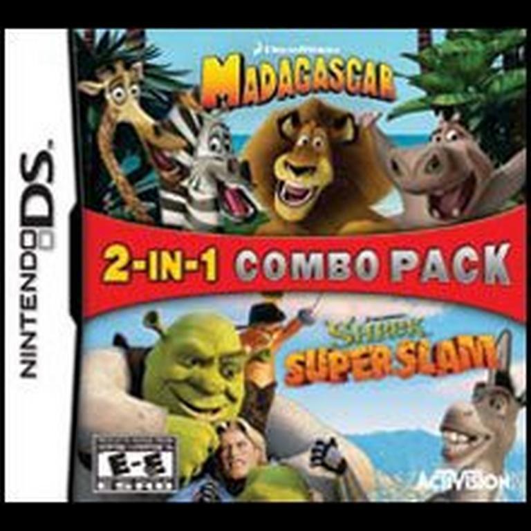 Madagascar and Shrek Super Slam 2-In-1 Bundle