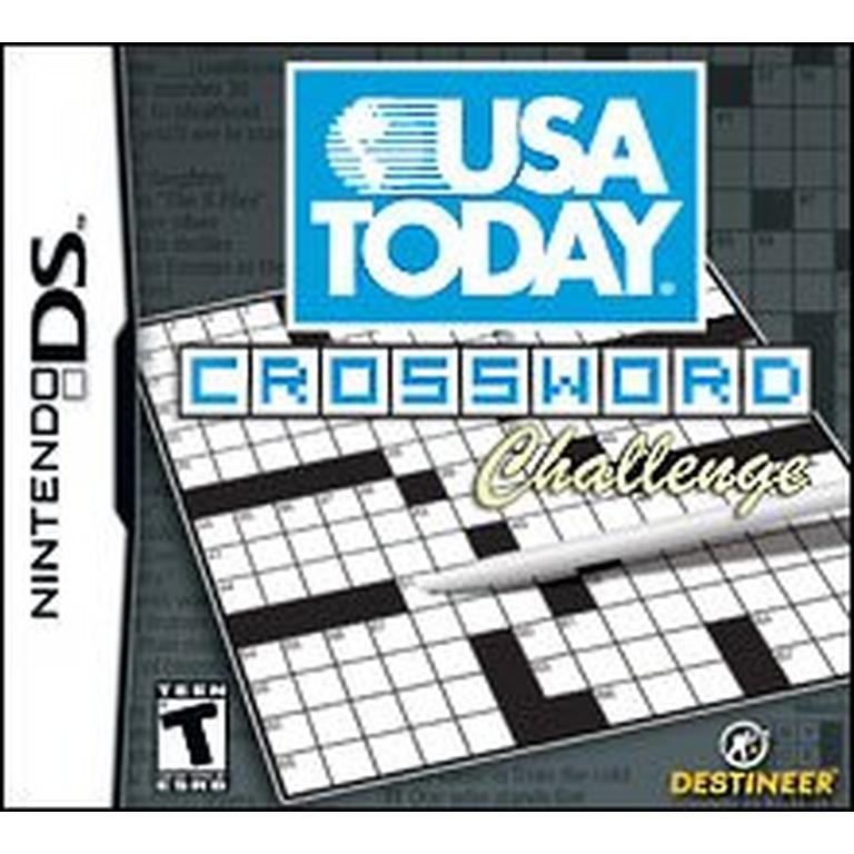 image relating to Usa Today Crossword Printable identified as United states of america Presently Crosswords ChallengeNintendo DS GameStop