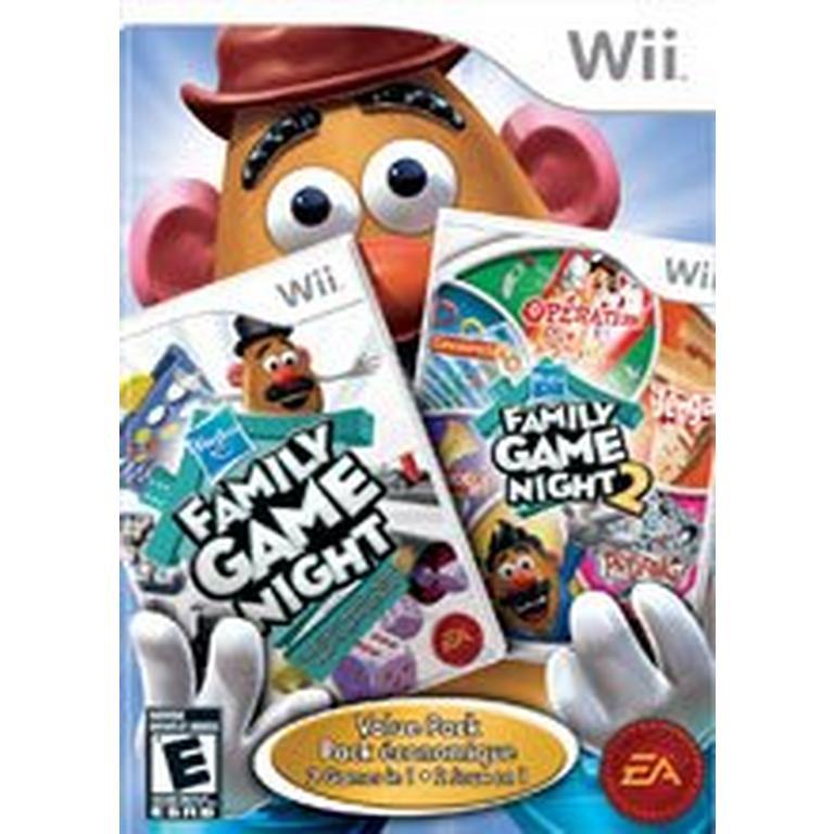 Hasbro Family Game Night 1 & 2 Bundle