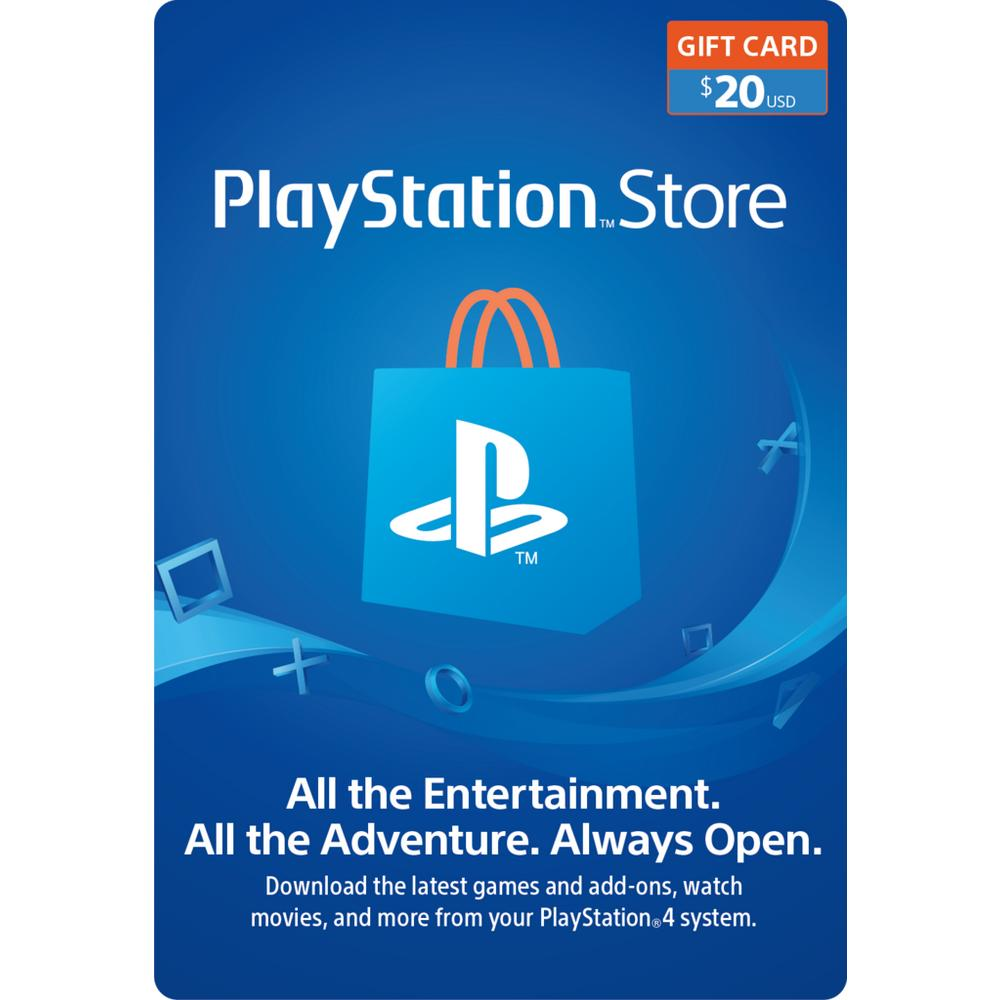 graphic relating to Gamestop Application Printable identified as PlayStation Retail outlet $20 Present Card \u003c%Console%\u003e GameStop