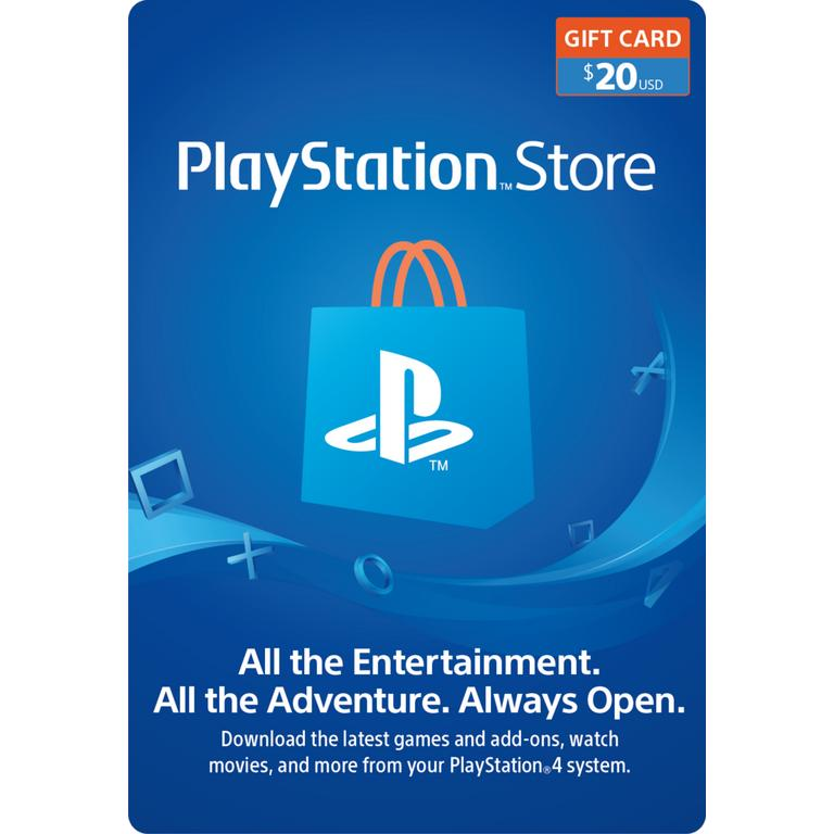 Sony Computer Entertainment Digital PlayStation Store Gift Card $20 PS4 Download Now At GameStop.com!