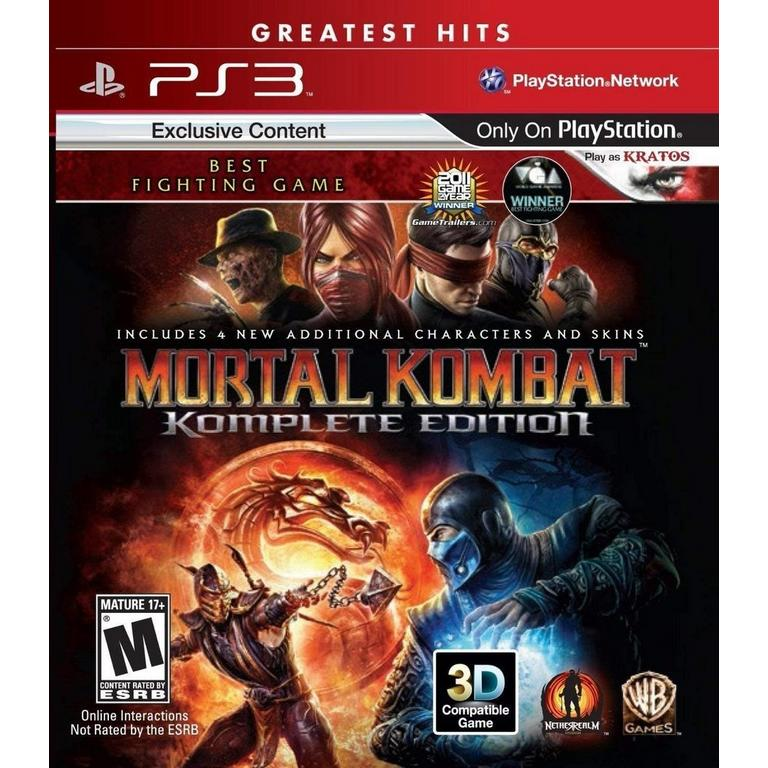 Mortal Kombat Komplete Edition Playstation 3 Gamestop
