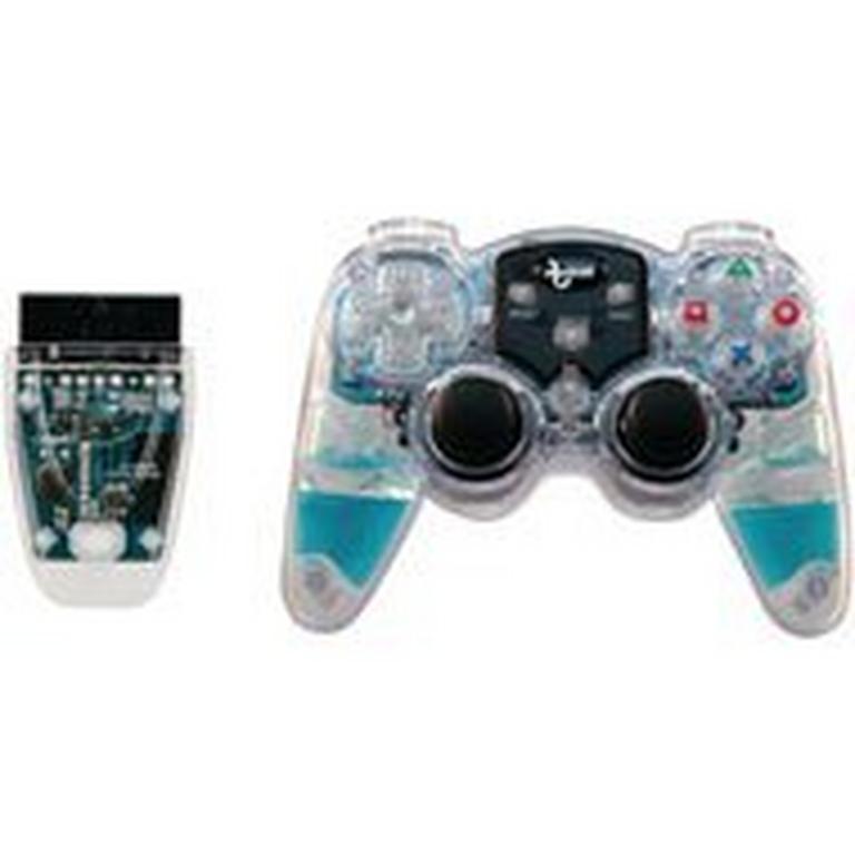 PlayStation 2 Lava Glow Blue Wireless Controller