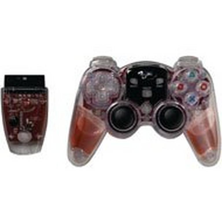 Lava Glow Wireless Controller for PS2 - Red
