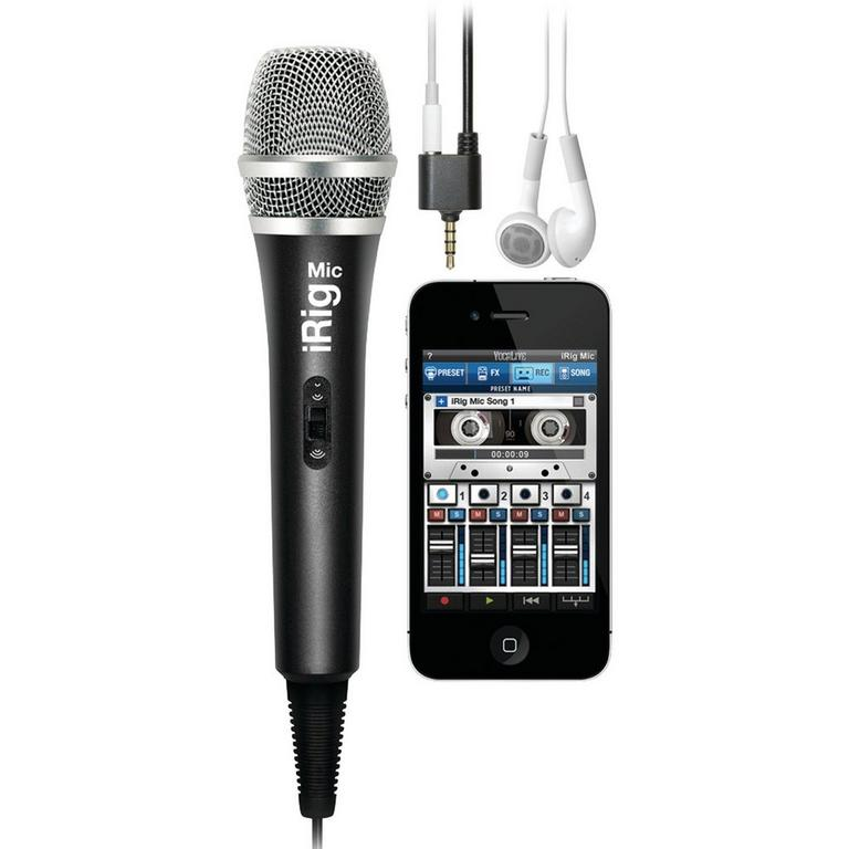 IK Multimedia iRig Mic high-quality handheld microphone