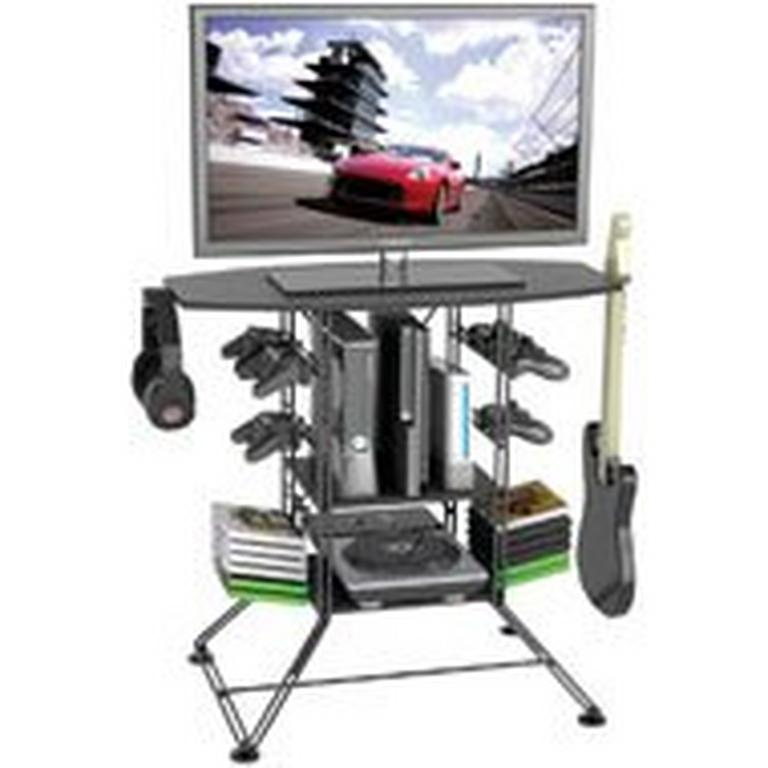 Atlantic Centipede Game Storage and 37 inch TV Stand - Black
