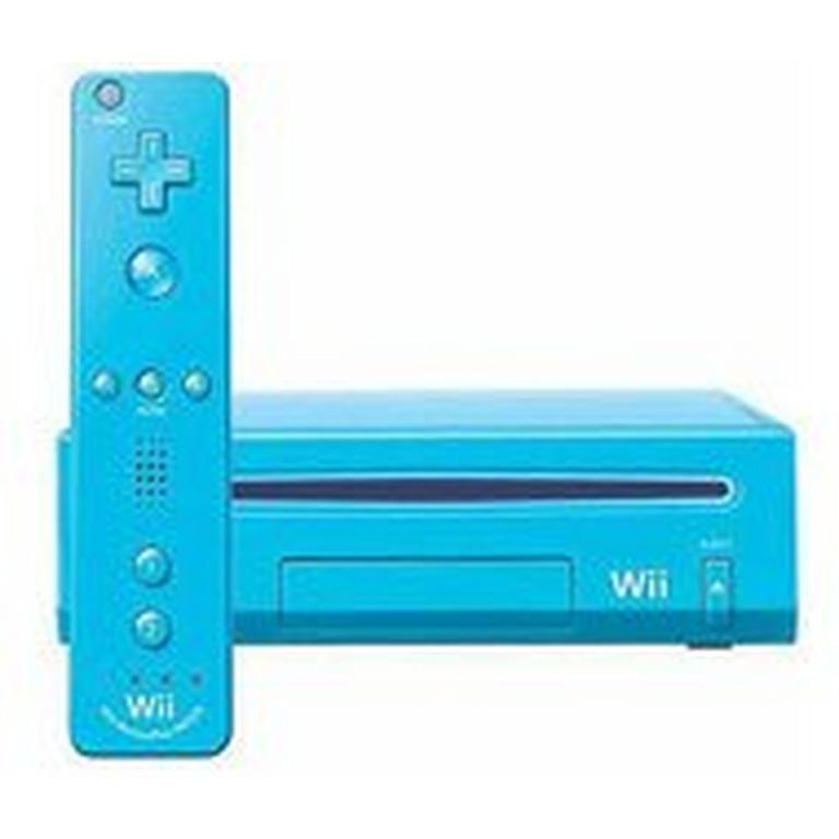Nintendo Wii with New Motion Plus Blue