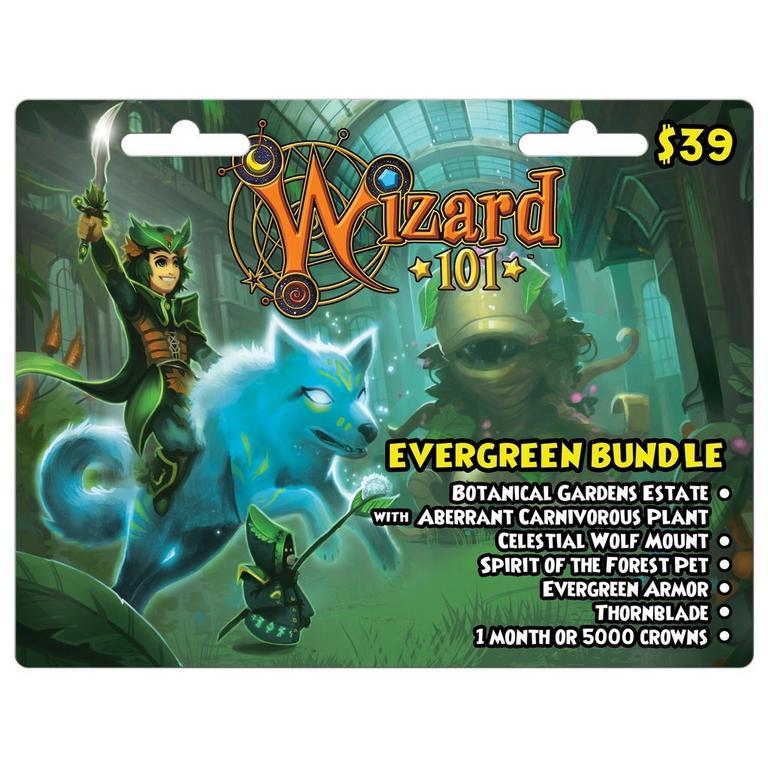 Wizard 101 Evergreen Bundle Digital Card
