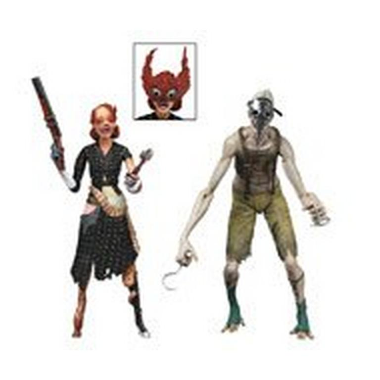 Bioshock - 7 inch Action Figure 2-Pack - Ladysmith Splicer and Crawler Splicer