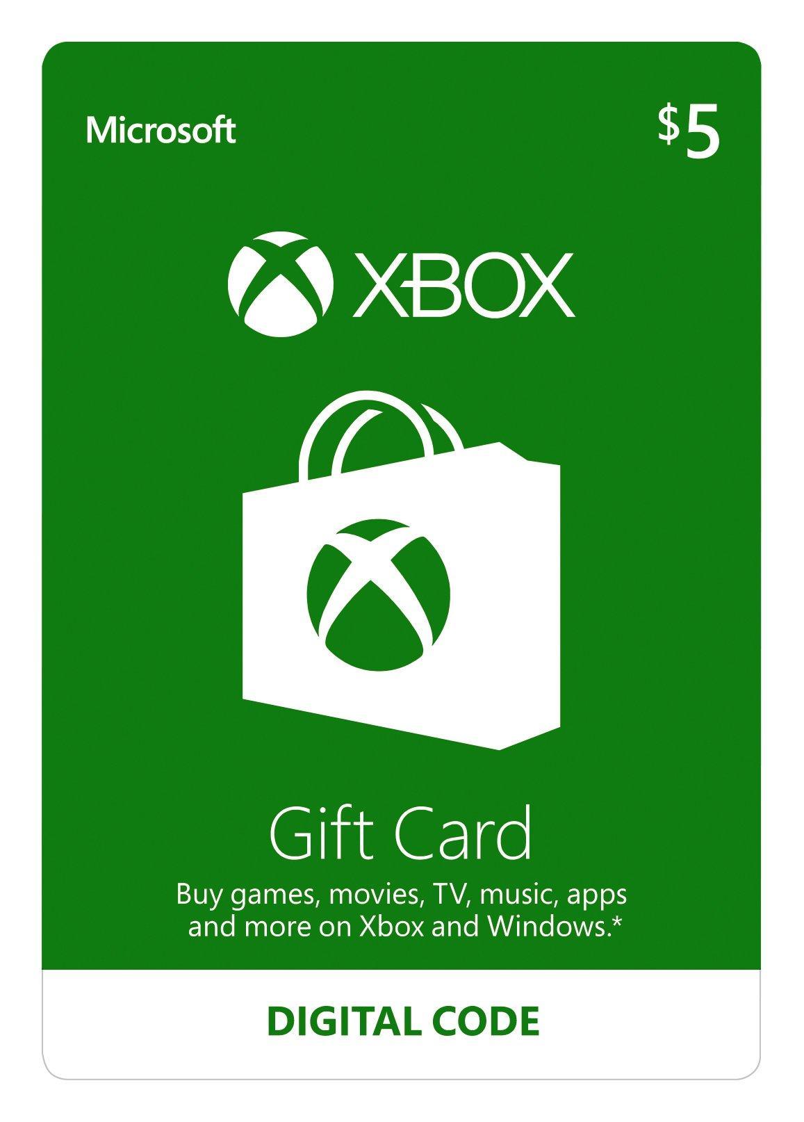 $5 Xbox Gift Card | Xbox | GameStop