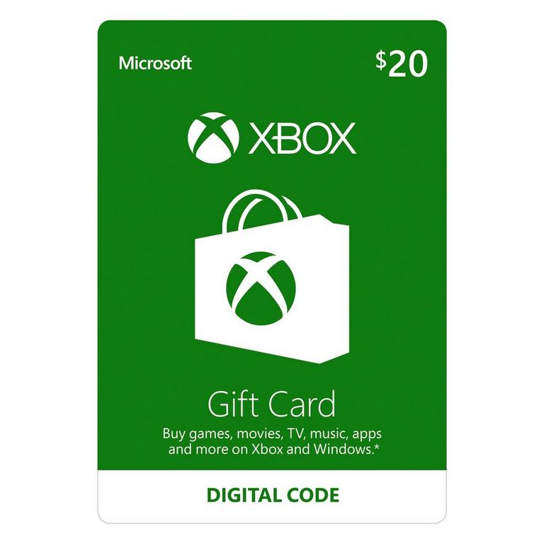 $20 Xbox Gift Card
