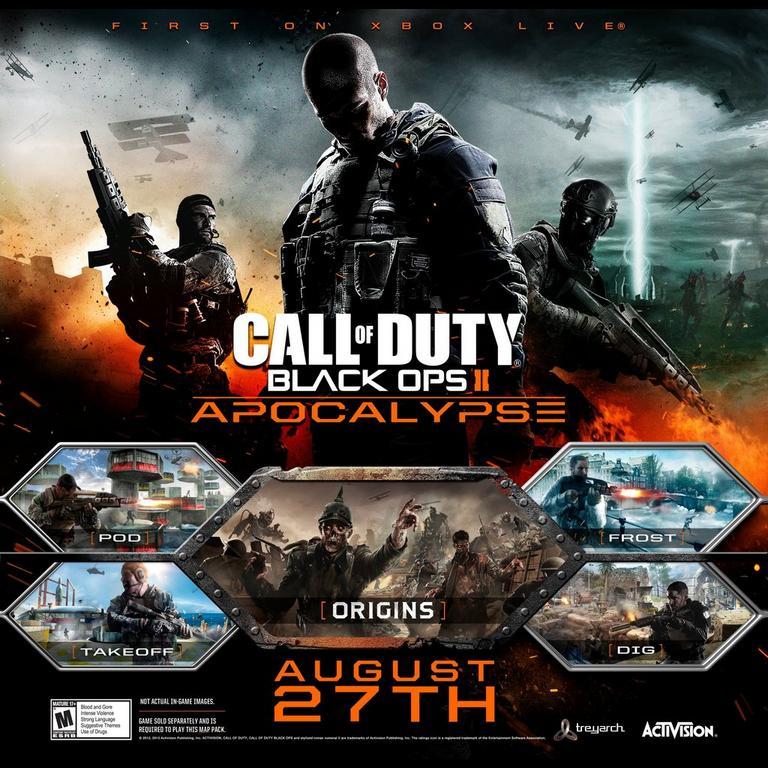 Call Of Duty Black Ops Ii Apocalypse Map Pack Xbox 360 Gamestop