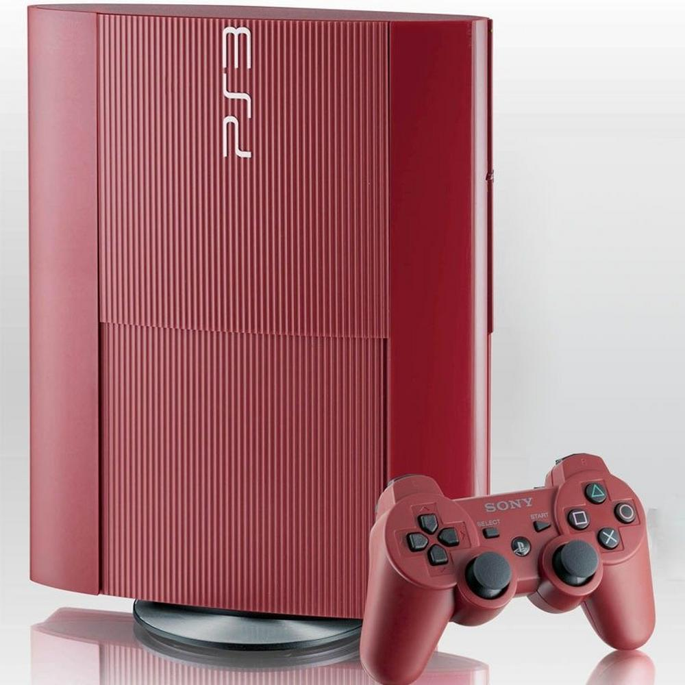 Playstation3 500gb System Red Gamestop Premium Refurbished Playstation 3 Gamestop