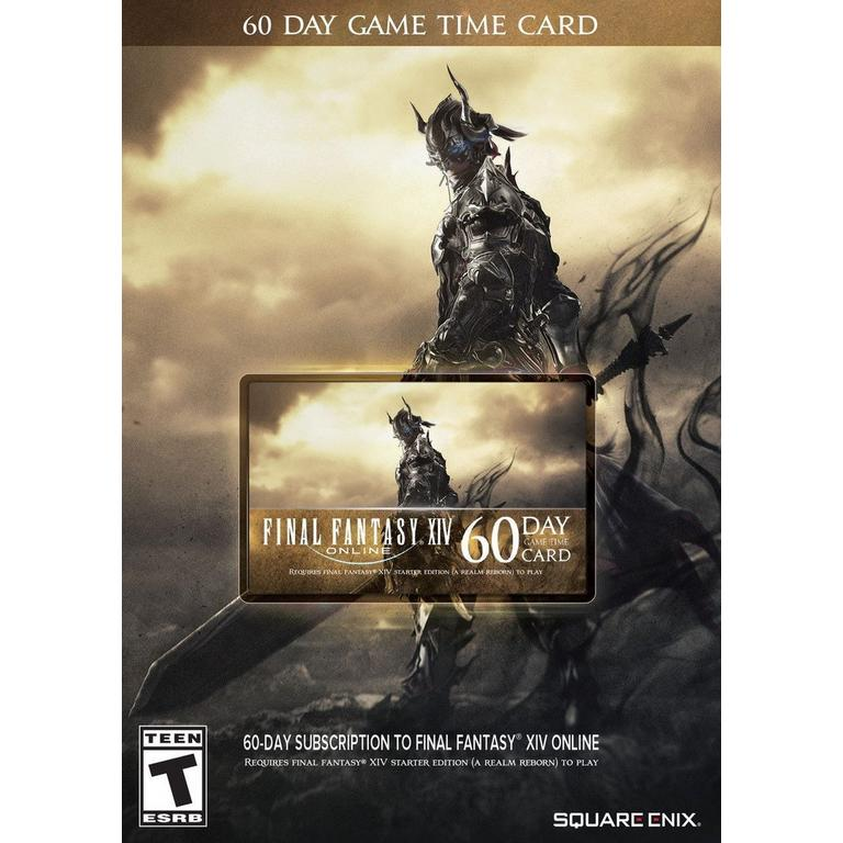 Final Fantasy XIV 60-Day Game Time Card