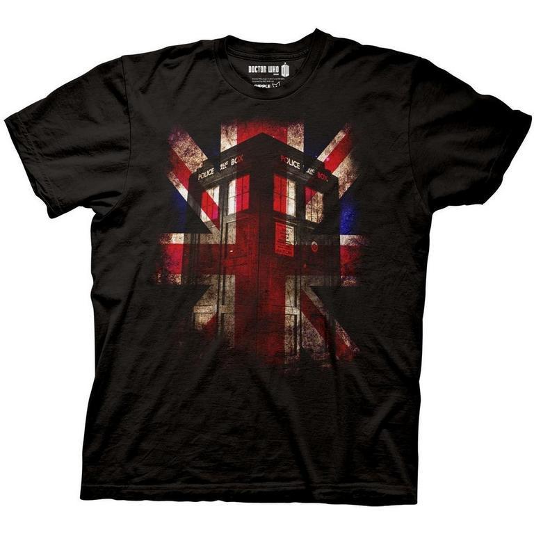 Doctor Who TARDIS Union Flag T-Shirt