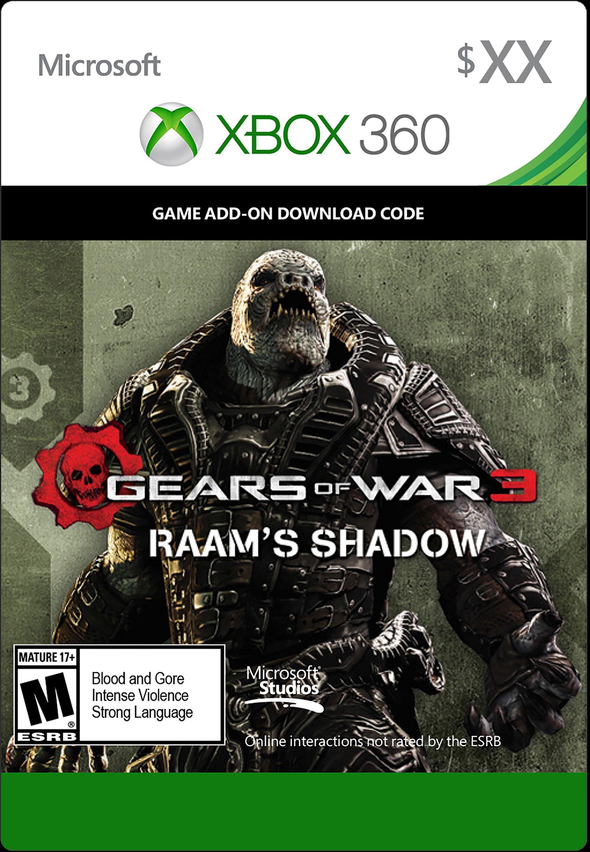 gears of war 3 raam shadow xbox 360