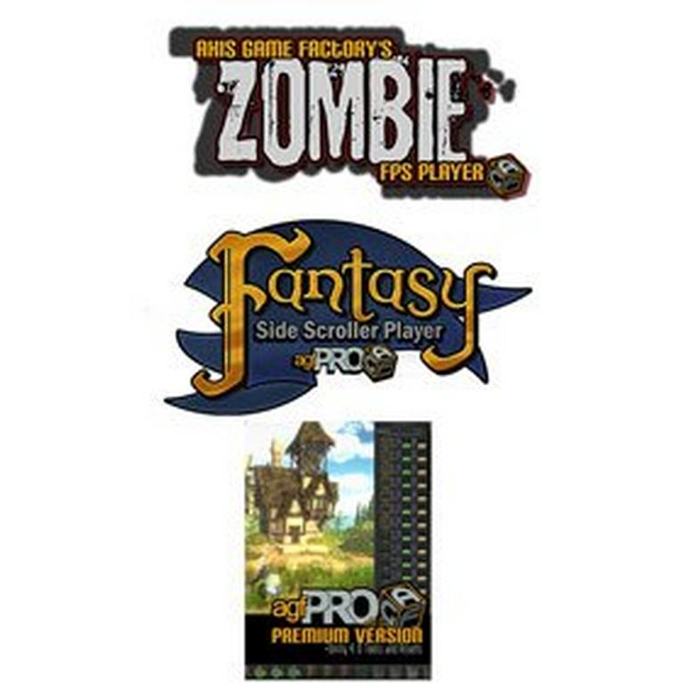 Axis Game Factory Pro + Zombie FPS + Fantasy Side-Scroller Bundle