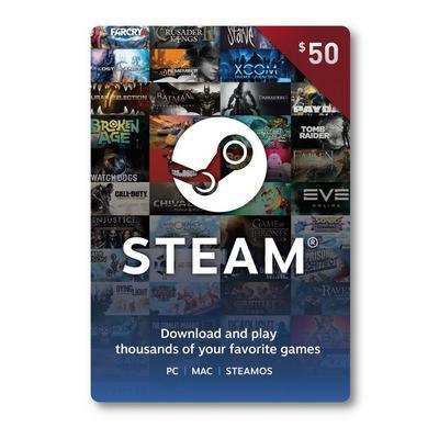 Valve - Steam Wallet Card ($50)