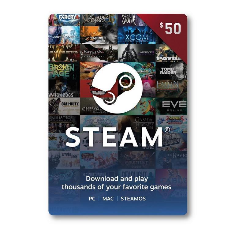 Valve Steam Wallet Card $50