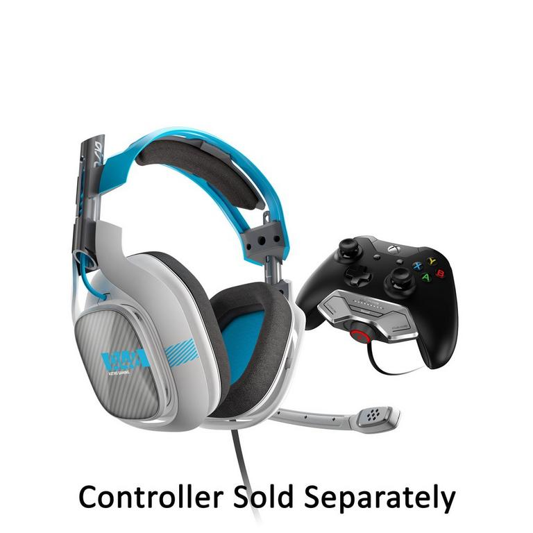 Xbox One A40 Light Gray and Blue Wired Gaming Headset with MixAmp M80