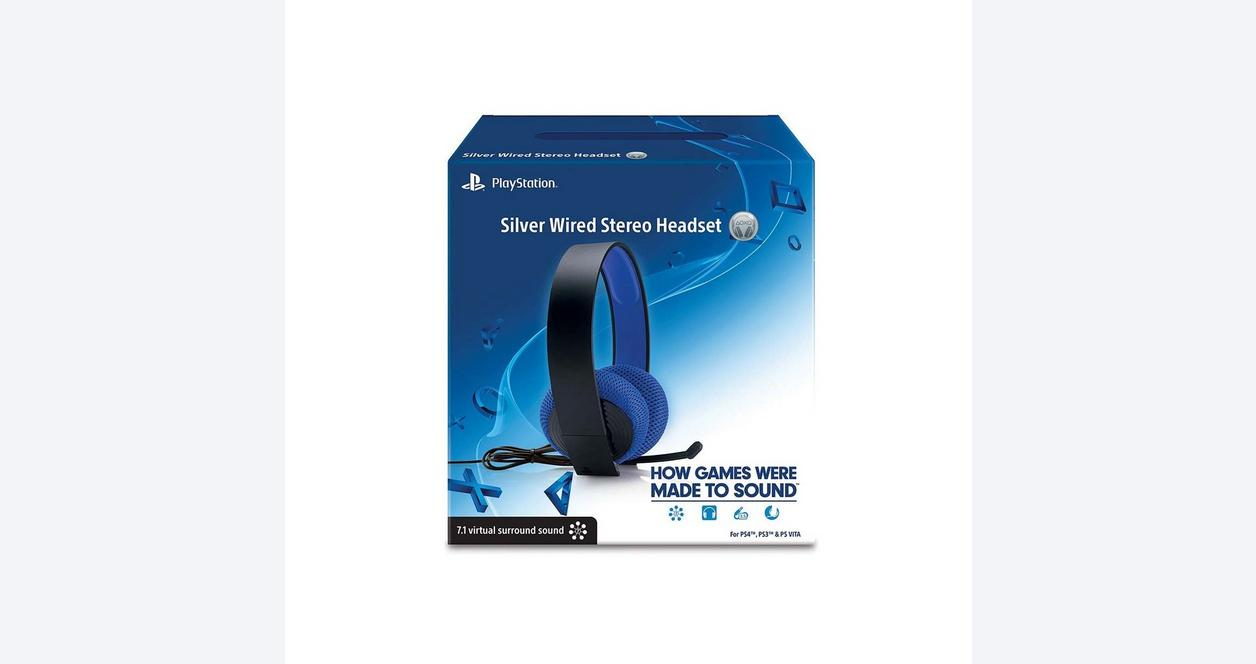 PlayStation Silver Wired Headset