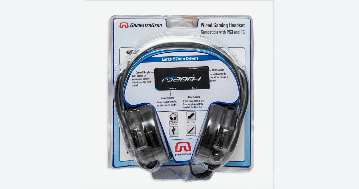 GamesterGear Cruiser P3200-I Black Wired Stereo Headset