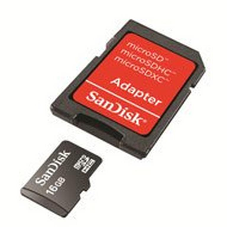 SanDisk 16GB microSDHC Card with Adapter