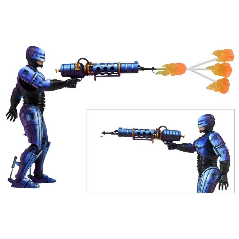 Robocop Vs Terminator ('93 Video Game) - Series 2 Robocop with Flamethrower 7 inch Action Figure