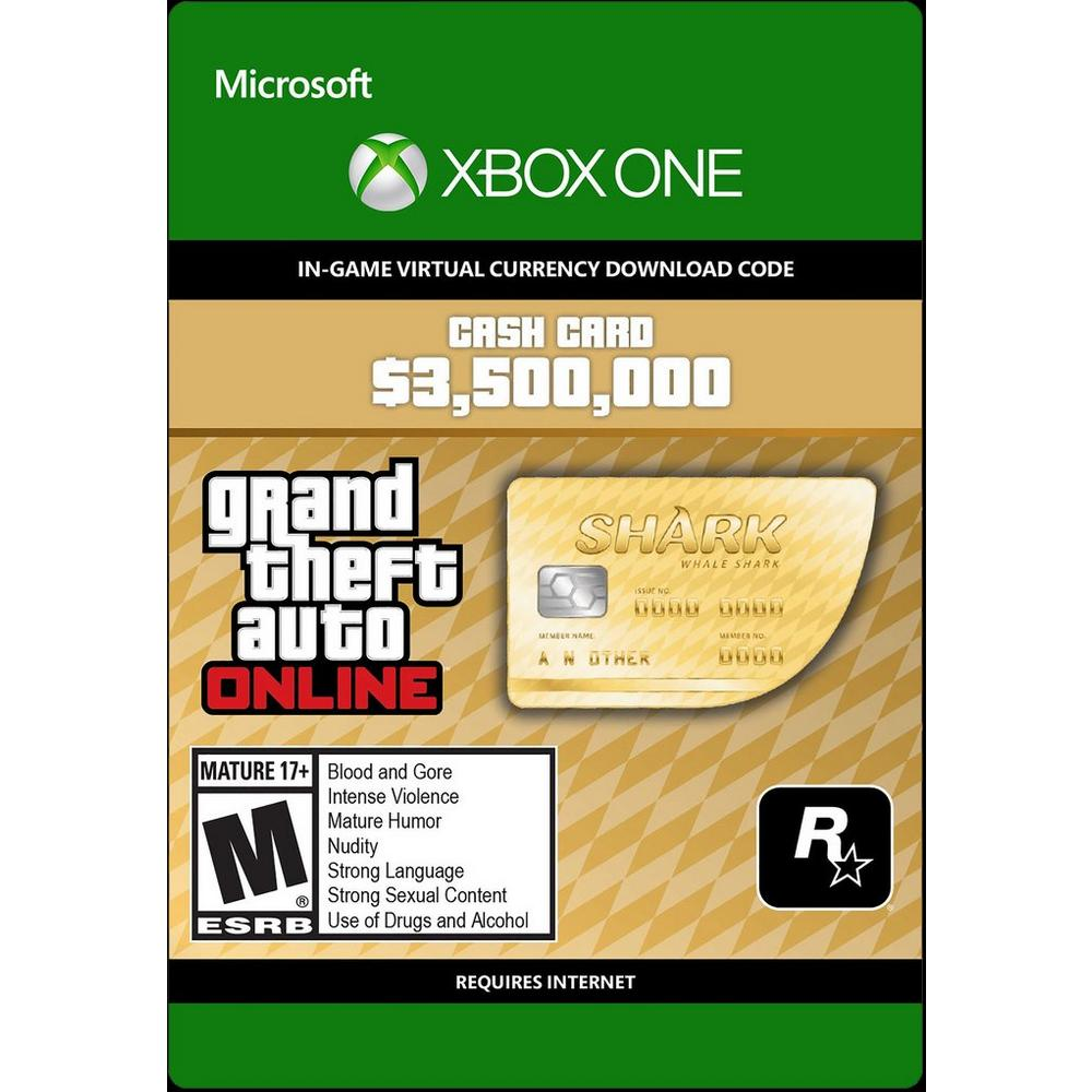 Grand Theft Auto Online: The Whale Shark Cash Card   Xbox One   GameStop