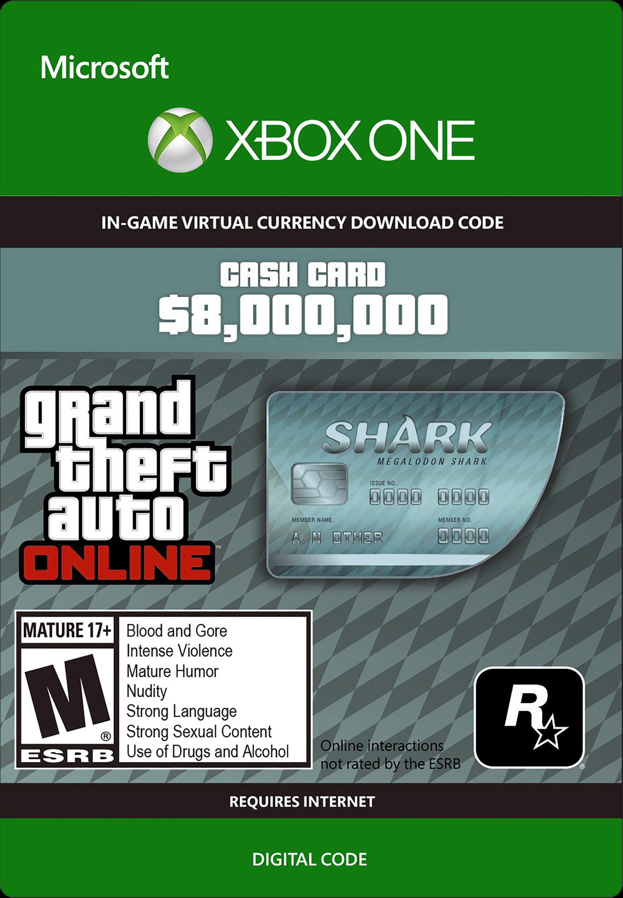 Grand Theft Auto Online: The Megalodon Shark Cash Card | Xbox One | GameStop