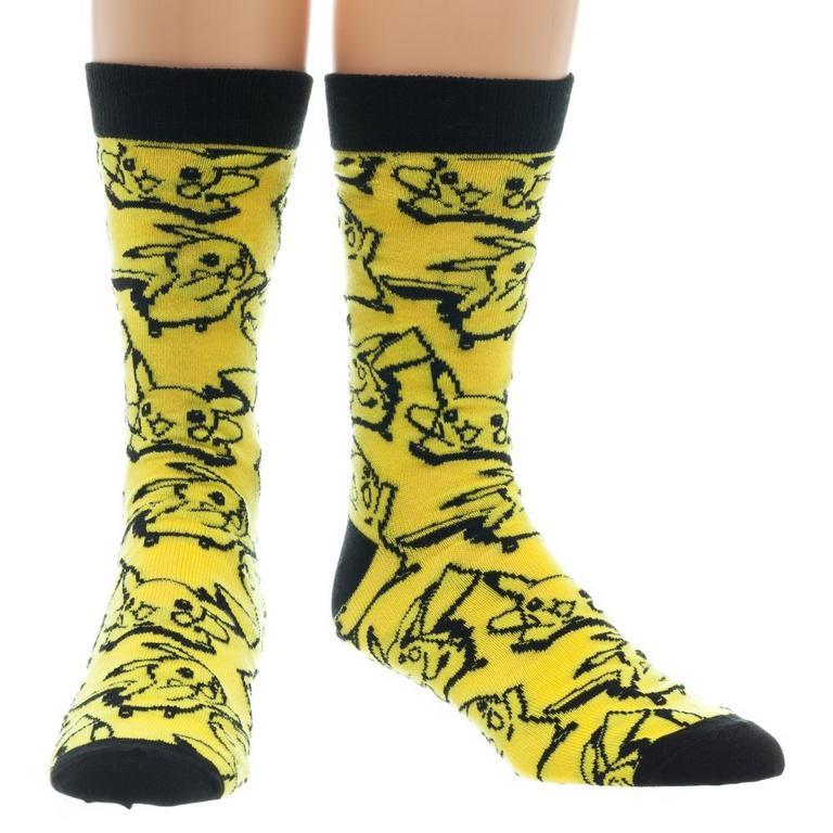 Pokemon Pikachu All-Over-Print Crew Socks