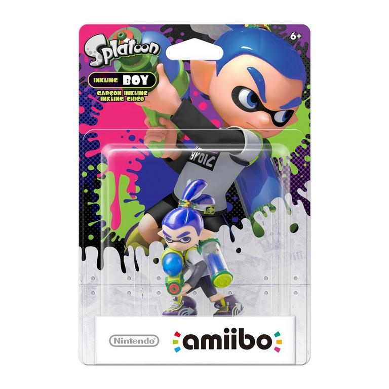 Splatoon Inkling Boy Neon Blue amiibo