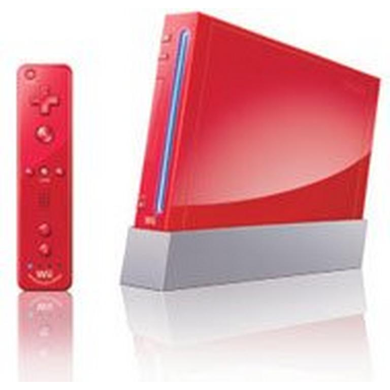 Nintendo Wii with New Motion Plus Red