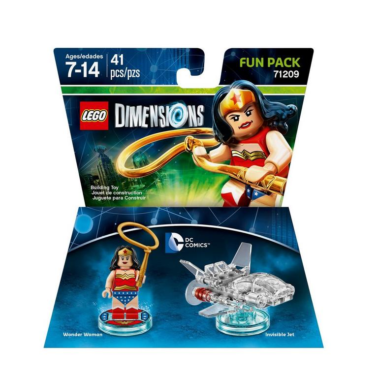 DC Comics Wonder Woman and Invisible Jet Lego Dimensions 71209 3 in 1 Set