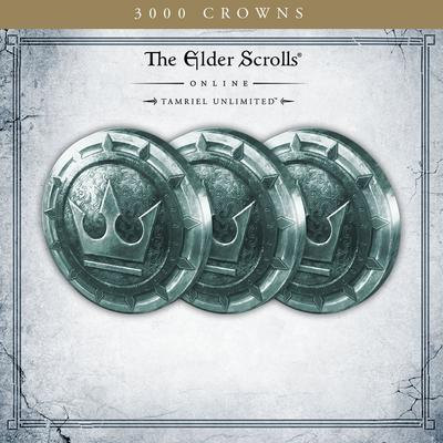 The Elder Scrolls Online Tamriel Unlimited 3,000 Crowns