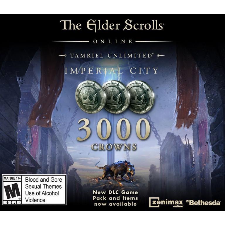The Elder Scrolls Online Tamriel Unlimited 3,000 Crowns