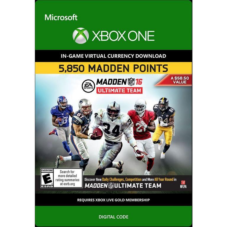 Madden NFL 16 Ultimate Team 5,850 Madden Points