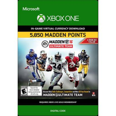 Madden NFL 16 Ultimate Team 5850 Points