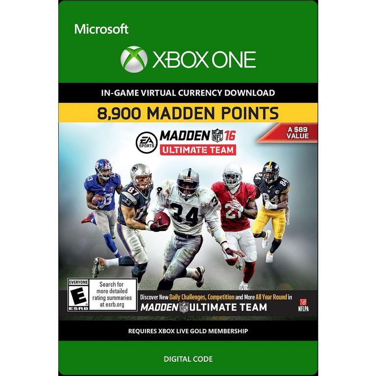 Madden NFL 16 Ultimate Team 8900 Points