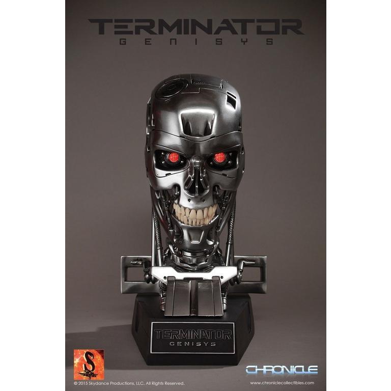 Terminator Genisys Endoskeleton Skull Statue