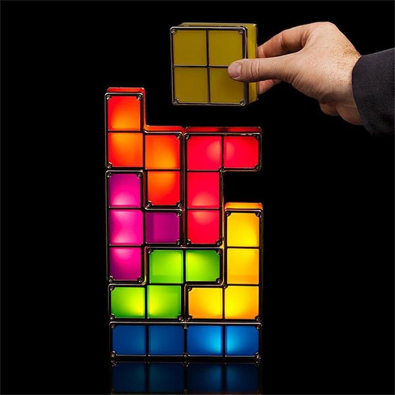 Tetris Stackable LED Desk Lamp - by ThinkGeek