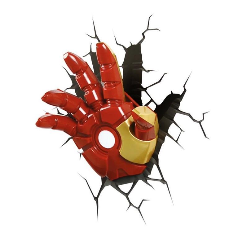 3D Deco Superhero Wall Light - Iron Man Hand - by ThinkGeek