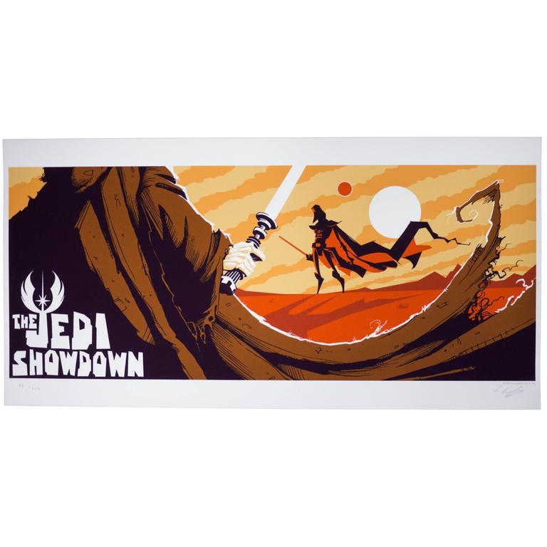 Star Wars - The Jedi Showdown Silkscreen Print