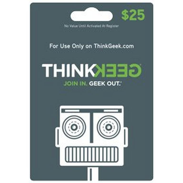 ThinkGeek Collectibles ThinkGeek.com $25 Gift Card (Digital Code) Download Now At GameStop.com!