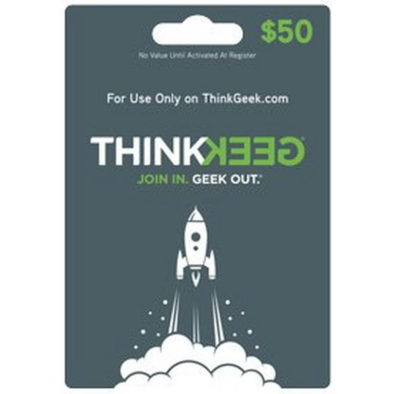 ThinkGeek Collectibles ThinkGeek.com $50 Gift Card (Digital Code) Download Now At GameStop.com!