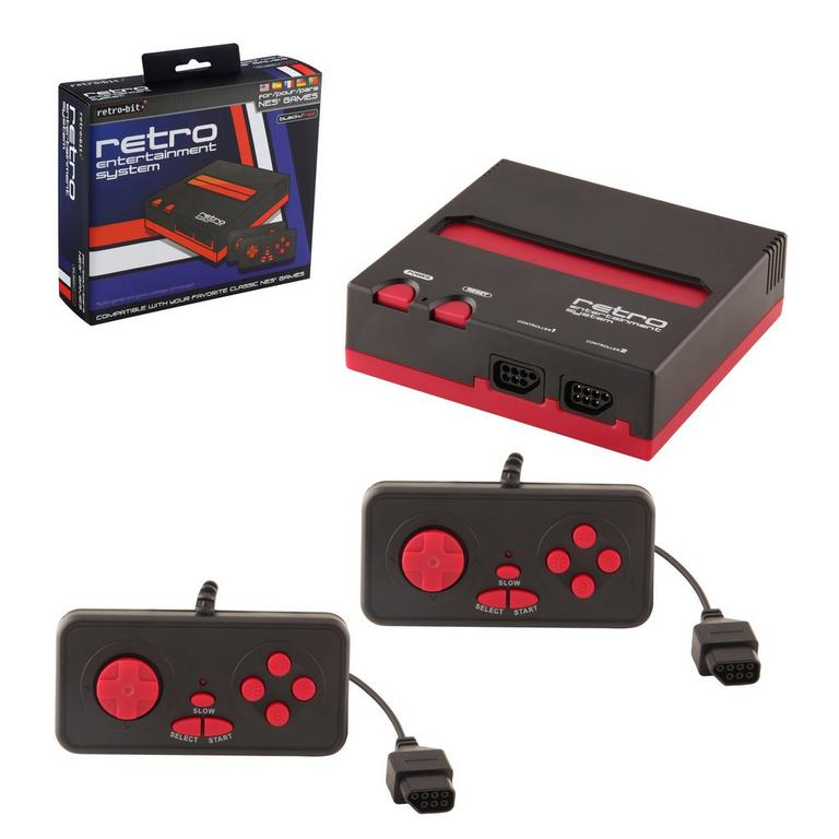 Nintendo NES Retro Entertainment System - Black/Red