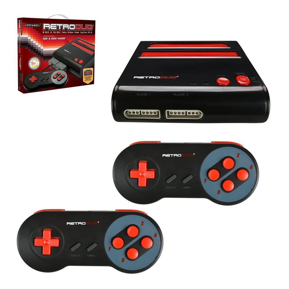RetroDuo Console SNES & NES Dual 2-In-1 System - Red/Black | <%Console%> |  GameStop