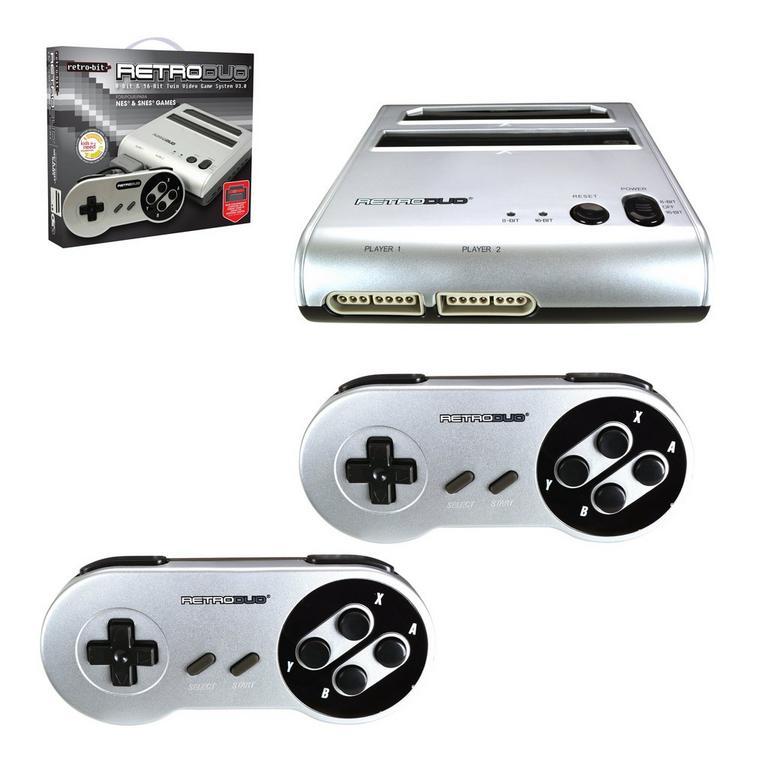 RetroDuo Console SNES & NES Dual 2-In-1 System - Silver/Black