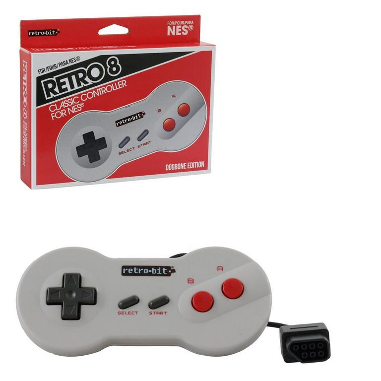 Wired Dogbone Controller for NES
