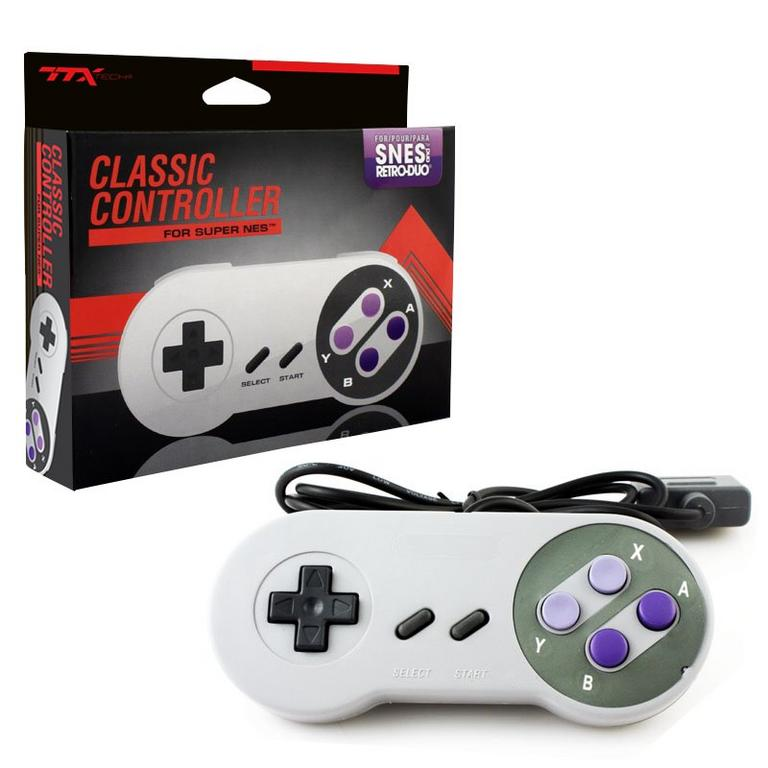 Gray Wired Controller for Super NES